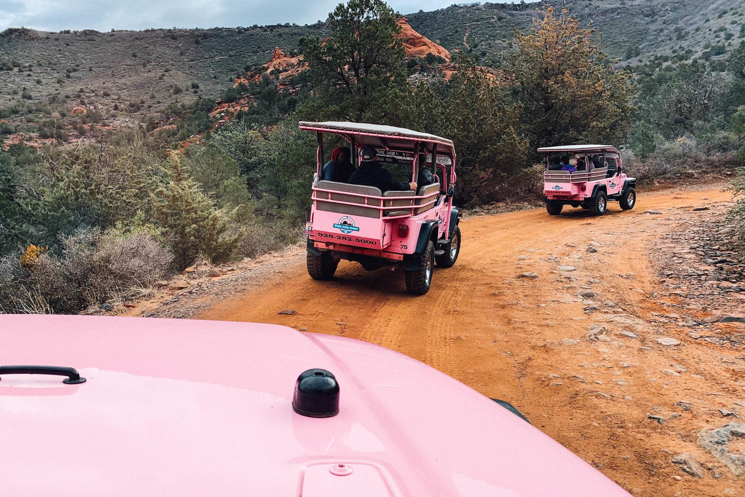 pink jeeps