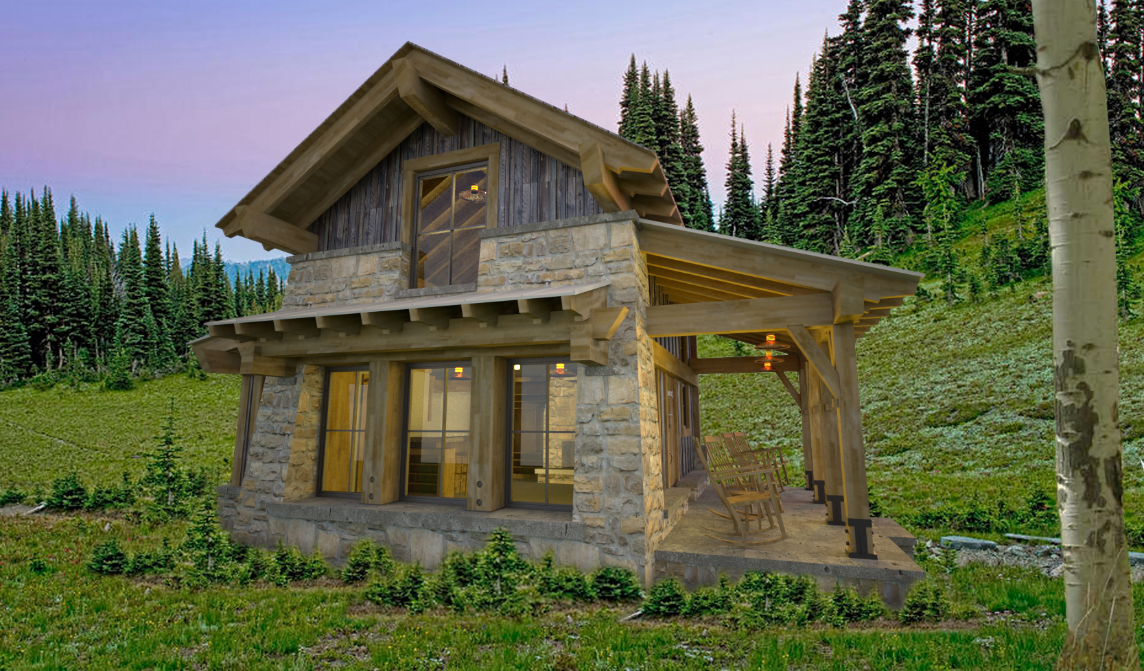 Cabin Design  Park Range Mountains, Steamboat Springs, Colorado