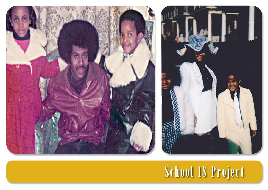 Tanya, Dad, Clinton Jr. on Christmas 1975/Tanya, Mom, Clinton(Junie) on Easter Sunday 1973