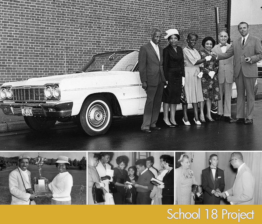 Provident Hospital: (top photo) circa 1960's. council woman Victorine Q. Adams, 3rd from right. Bottom photos (l to r) 1st photo circa approx 1960's, 2nd and 3rd photos circa approx 1950's