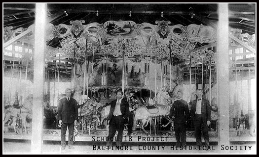 circa early 1900's. Electric Park's Carousel
