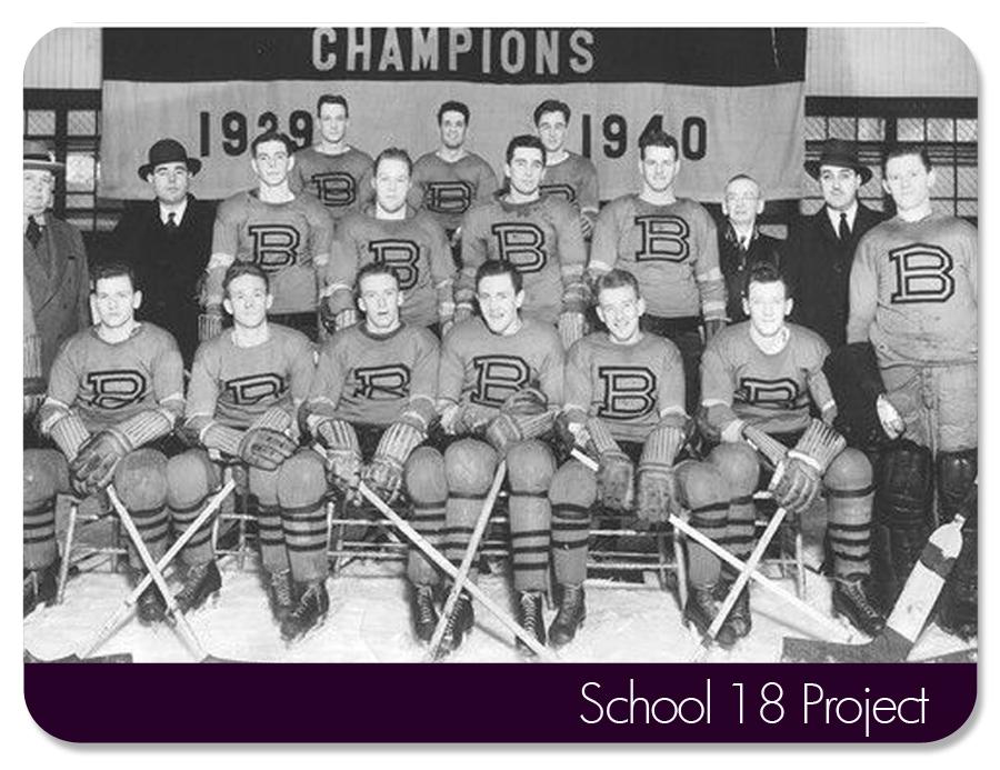 Baltimore Orioles Ice Hockey team. Circa 1940.
