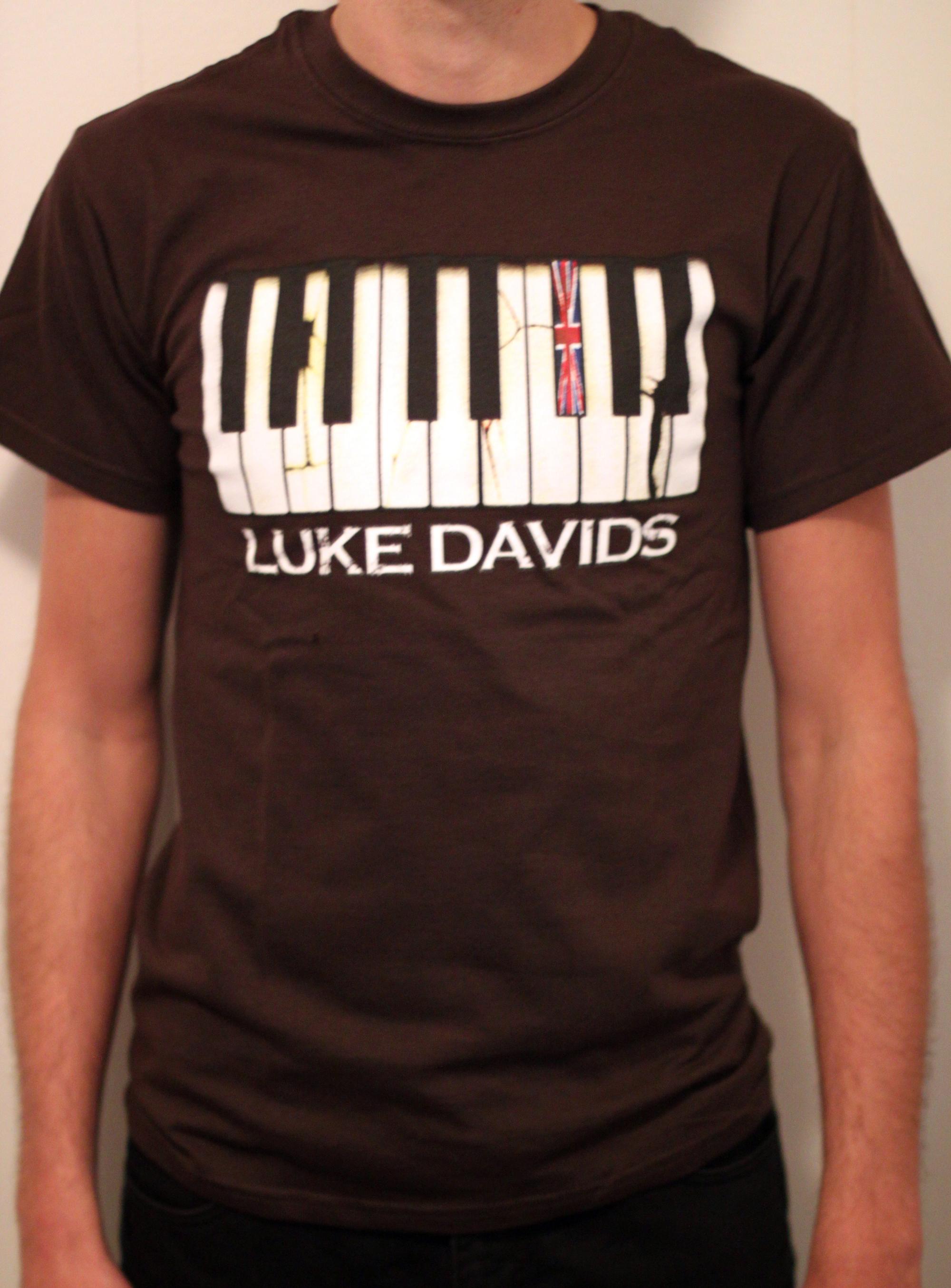 Luke Davids Piano Tee Brown