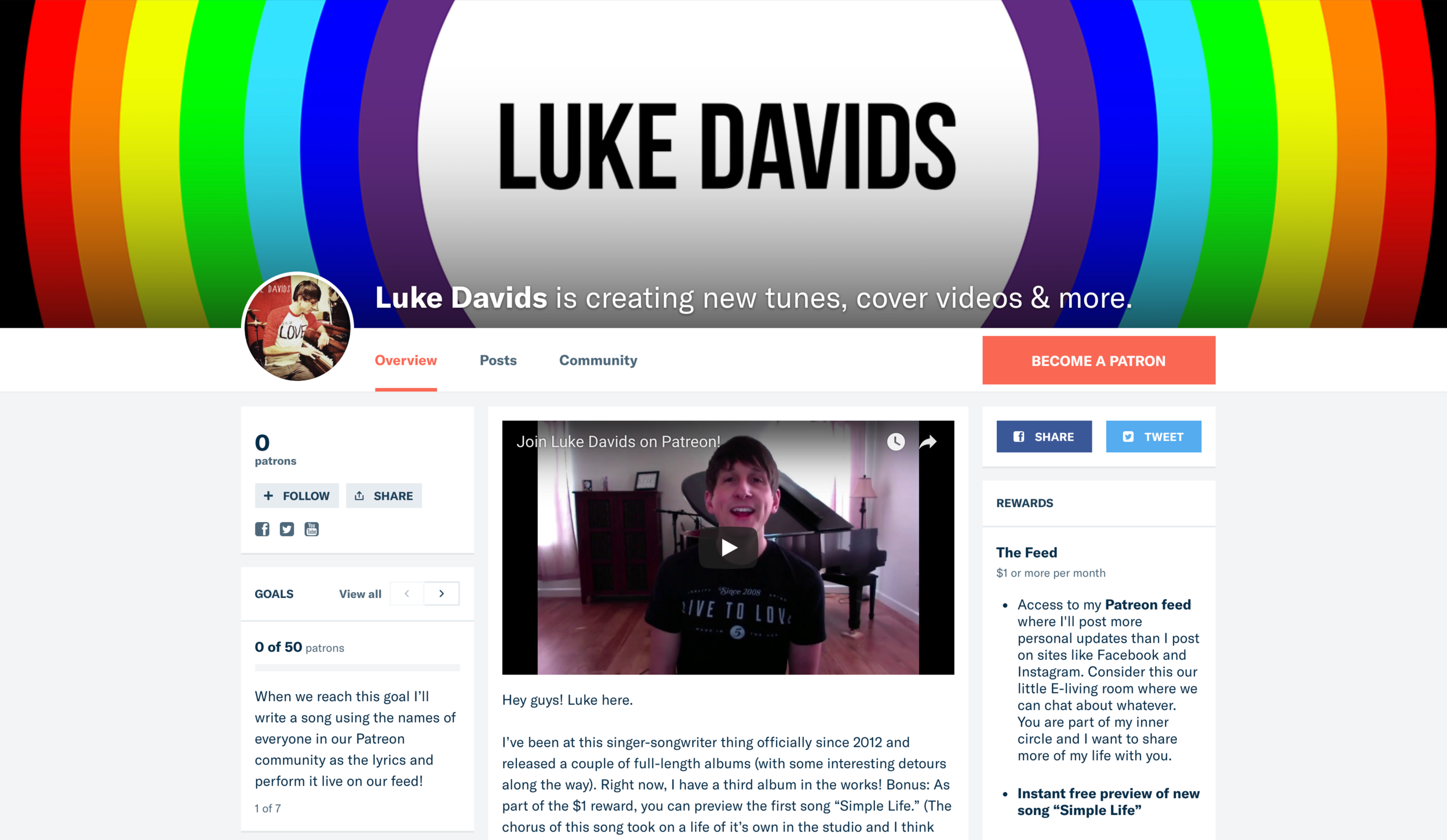 Luke Davids Patreon Page