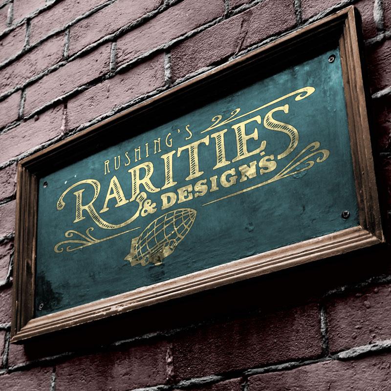Rushing's Rarities Logo