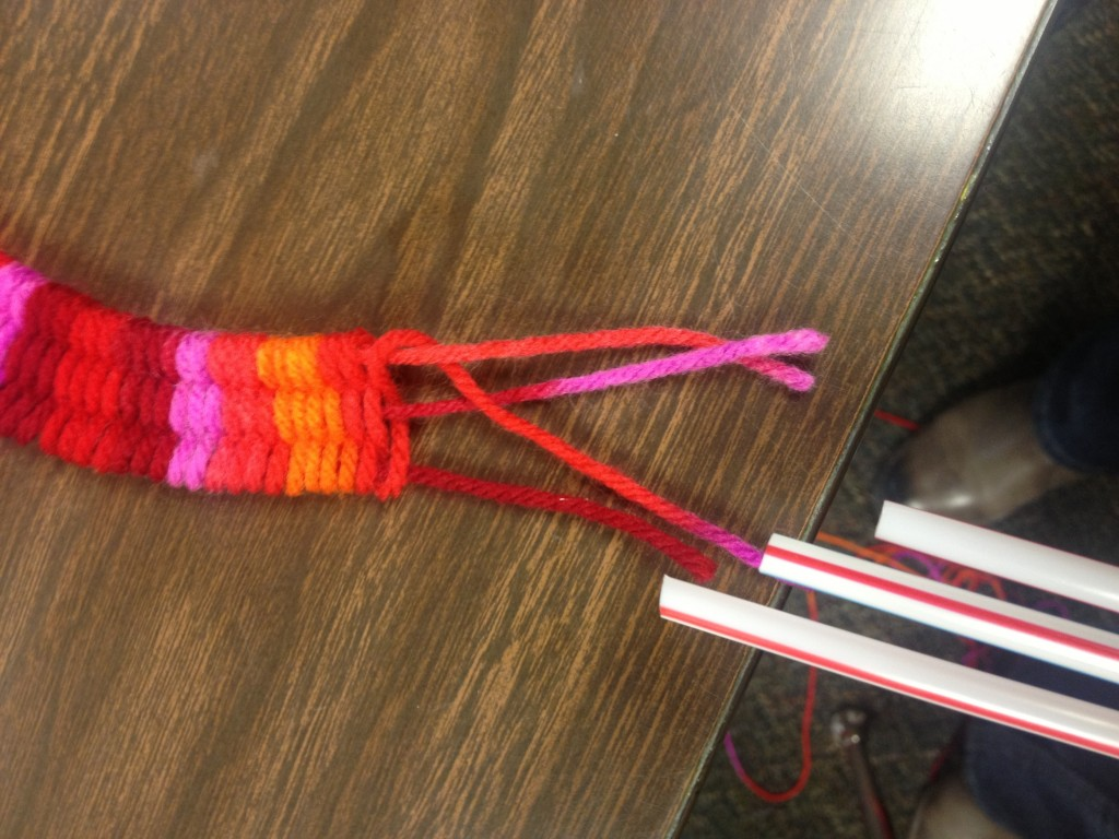 Soda Straw Yarn Bracelet