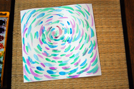 Paper Weaving cool colors
