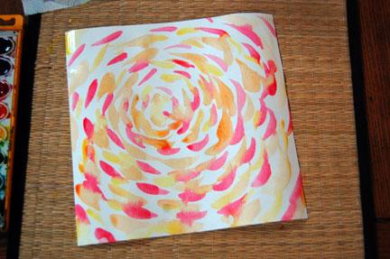 Paper Weaving warm colors