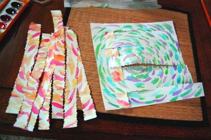 Paper Weaving strips