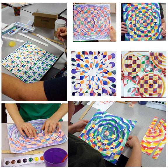 Paper Weaving with art teachers