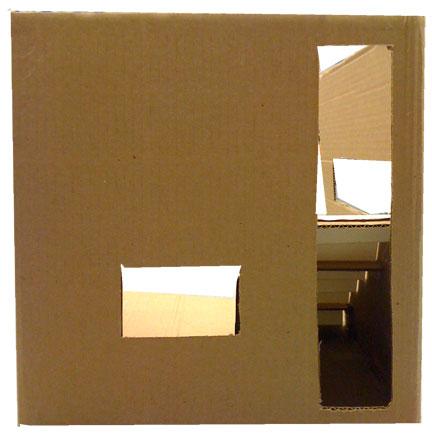 cardboard house rear view