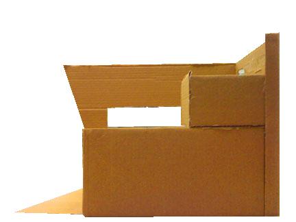 cardboard house side view