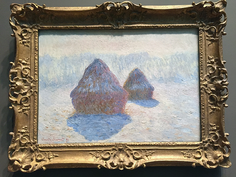 Haystacks (Effect of Snow and Sun), 1891