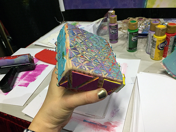 make your own stamp block
