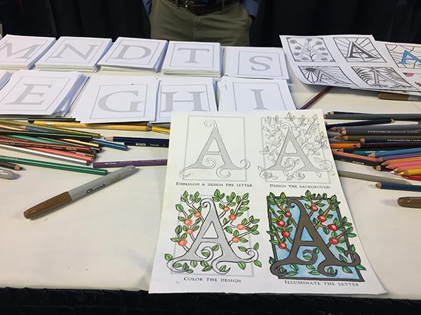 practice decorative monograms