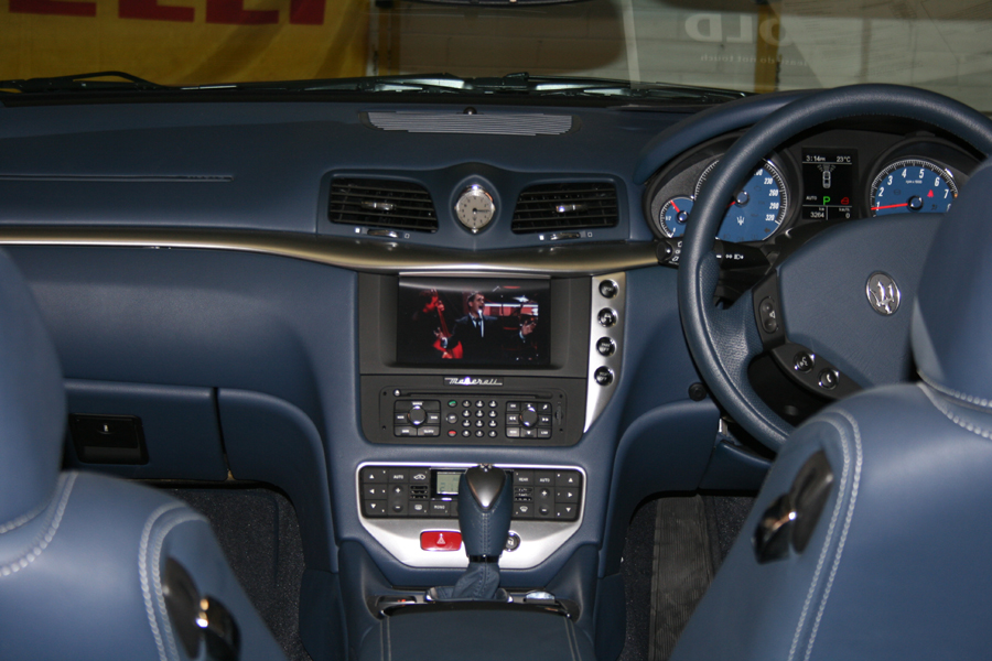 AIS multimedia interface for the Maserati NIT screen.