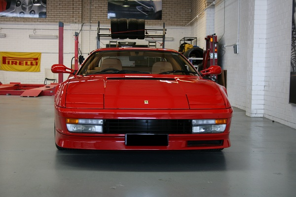 The 1997 Ferrari Testarossa V12.