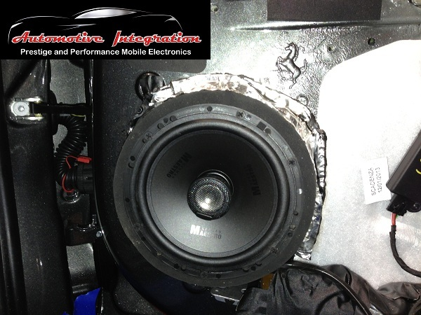 The frontGermanMaestro speakers were custommountedin 30mm MDF spacers and then sound deadened to the door for an air tight fit..