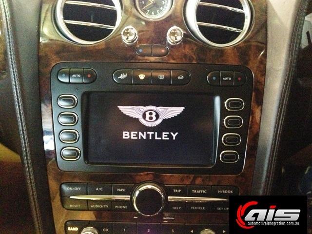 The Bentley factory radio.