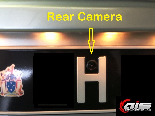 The rear camera is hidden in the rear number plate.