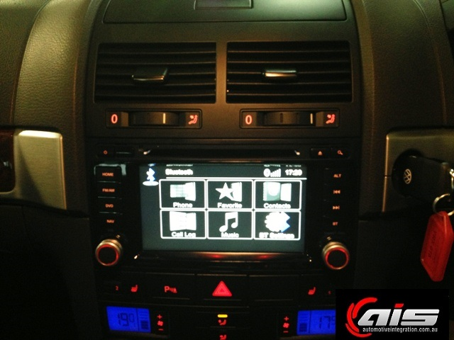 The Zenec illumination matches the rest of the dash controls.