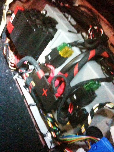 After 4 hours of painstaking repairs at Automotive Integration, the F430 fuse-box was returned to original condition.