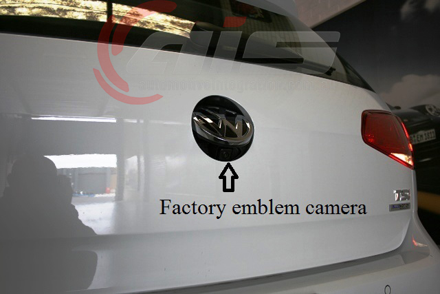 The factory emblem camera is an additional safety feature.