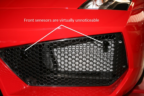 Front sensors see what the driver can't.