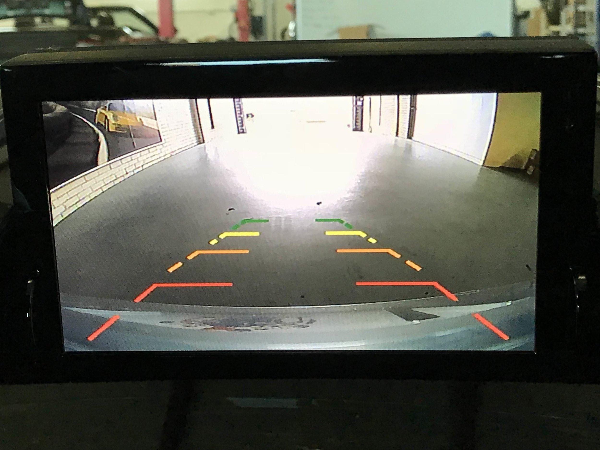 Rear camera image