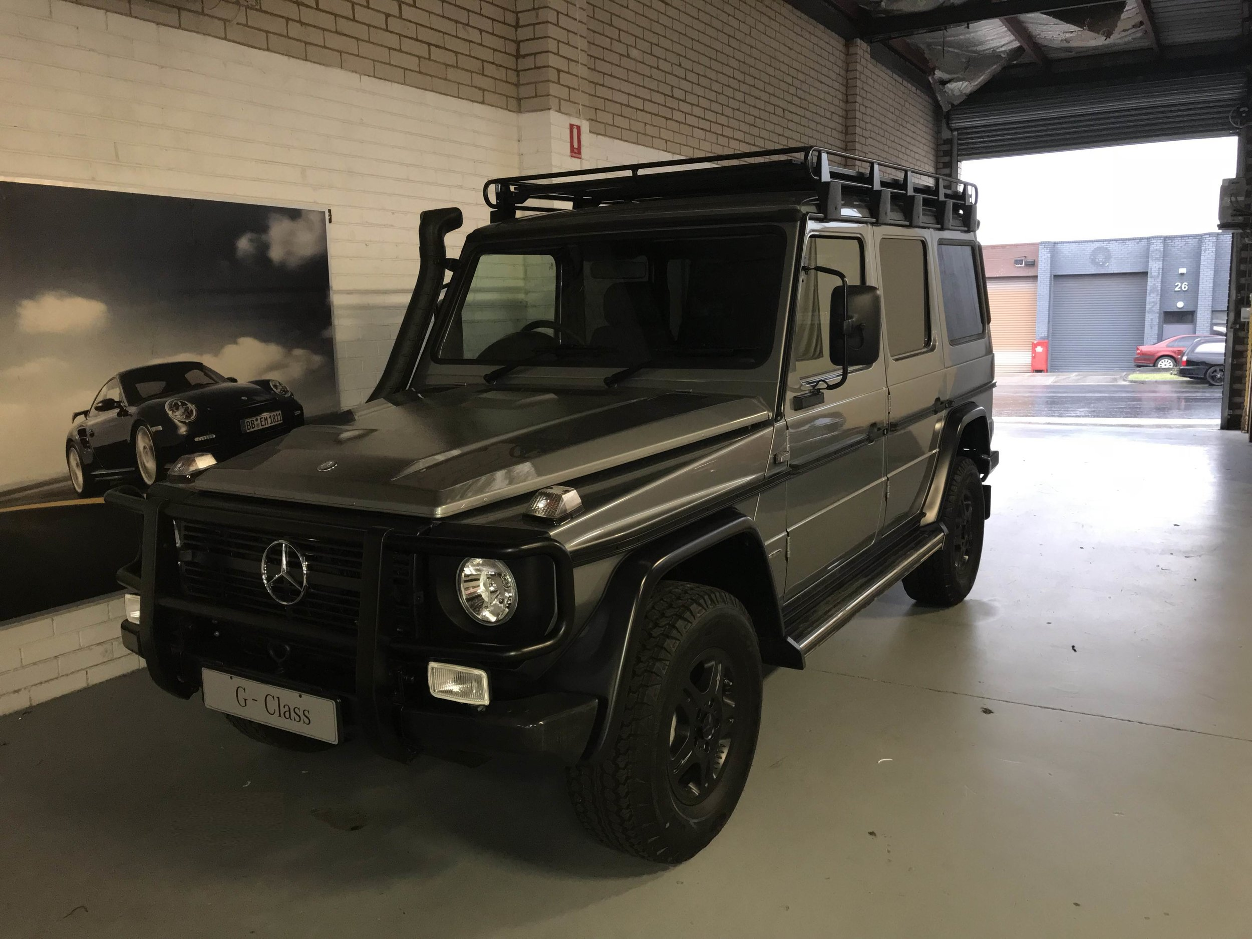 The rugged Mercedes G-Class