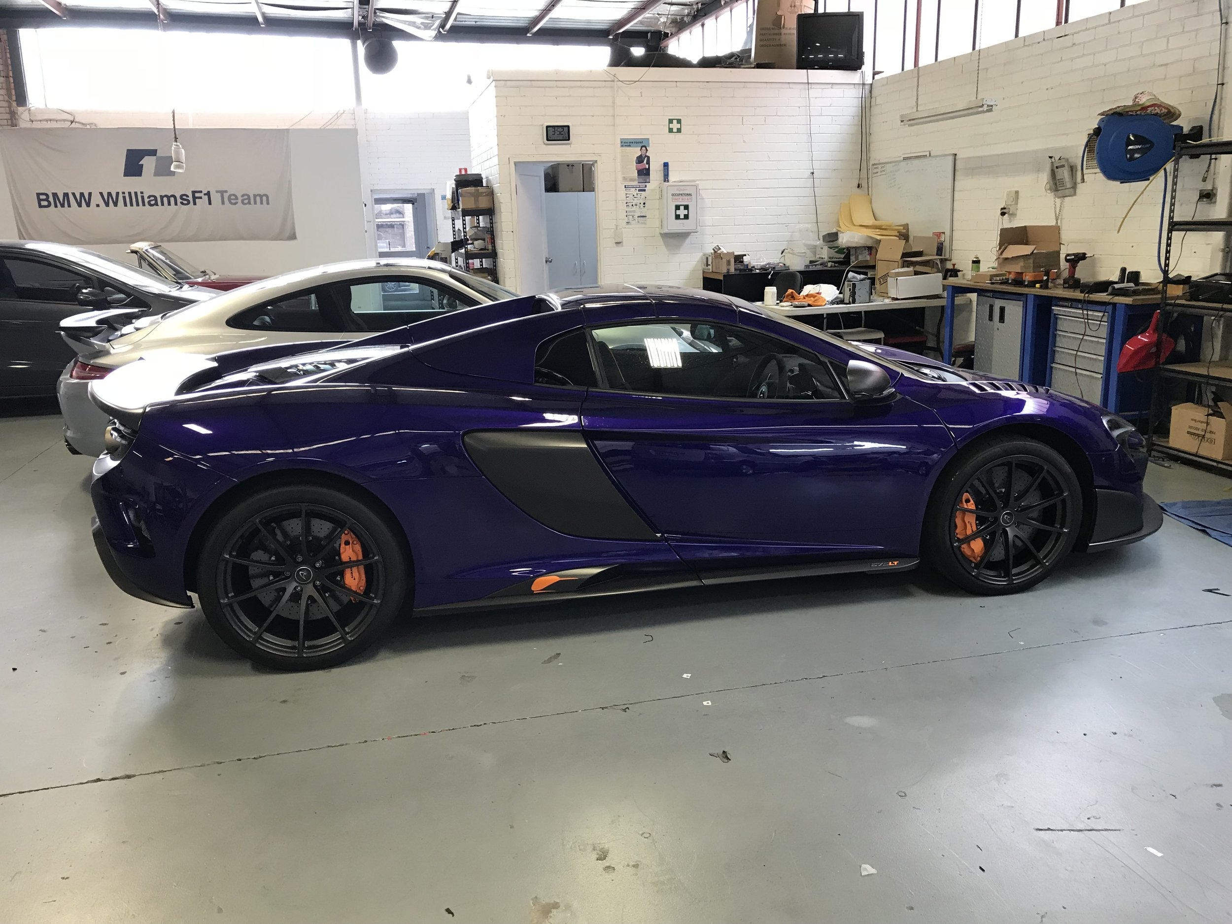 A Mclaren 675LT fitted with AIS tracking