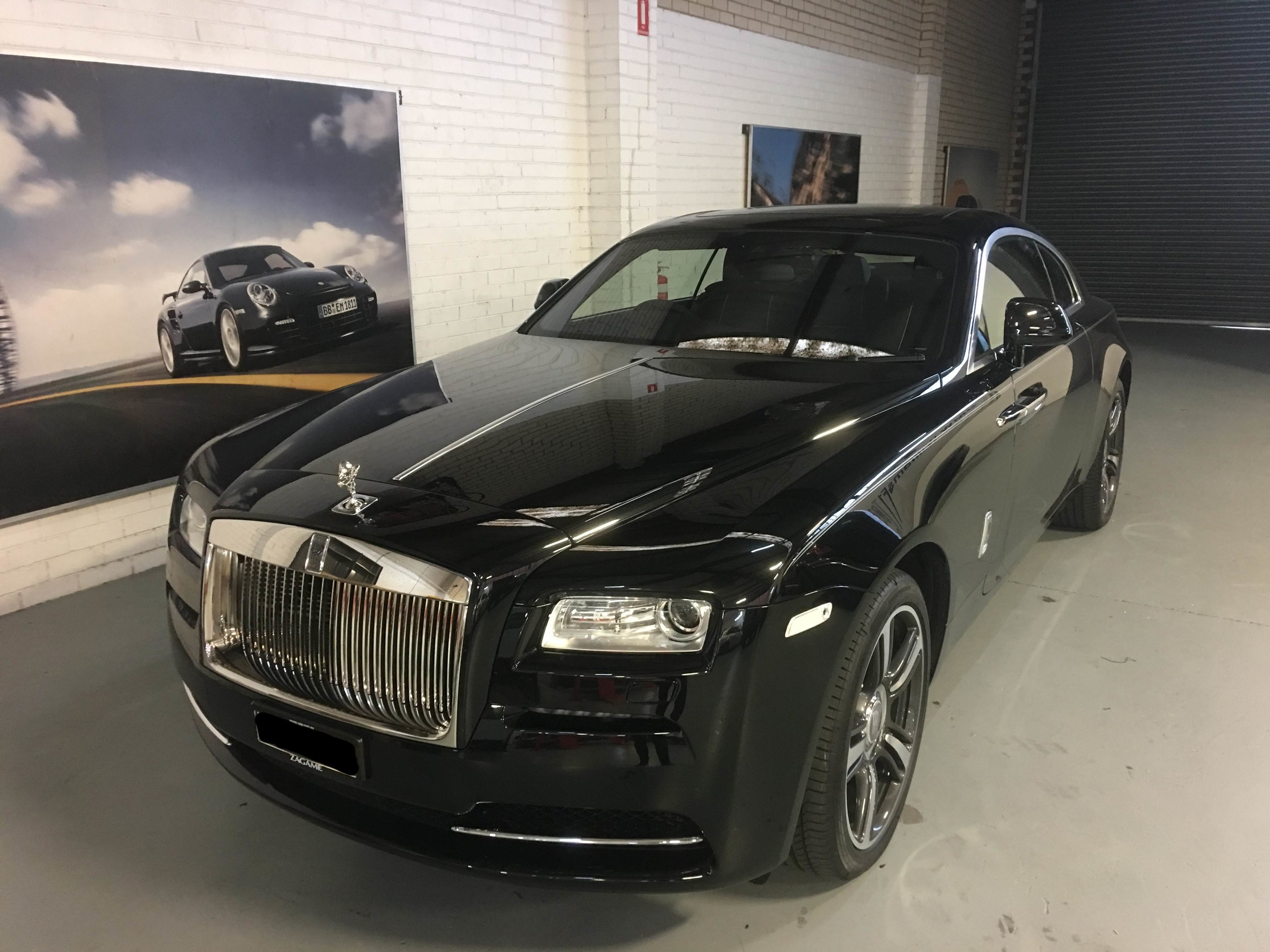 A new Rolls Royce Wraith, fitted with AIS tracking