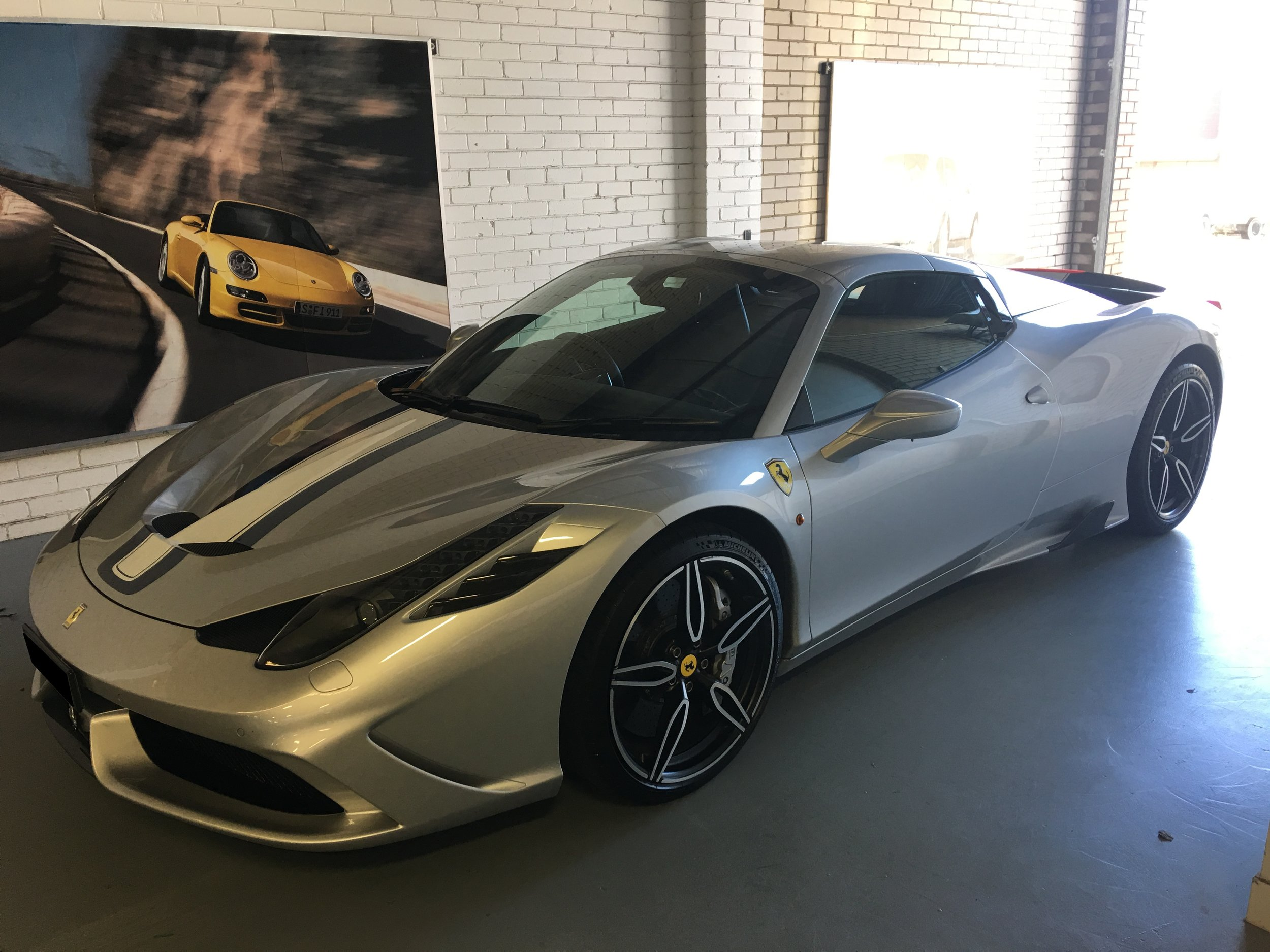 A Ferrari 458 Speciale Aperta equipped with AIS tracking