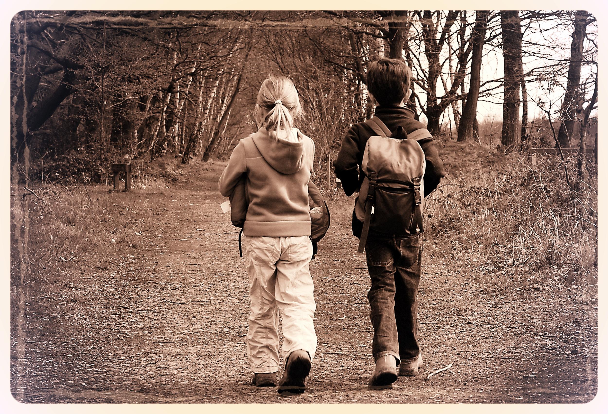 Ella & Beck; On the edge of Sherwood Forest
