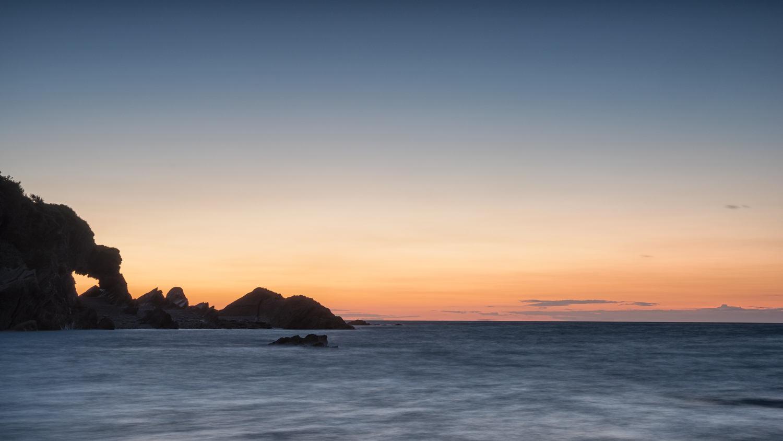 sunset on Hele brach taken with DSLR - long exposure using neutral density filter