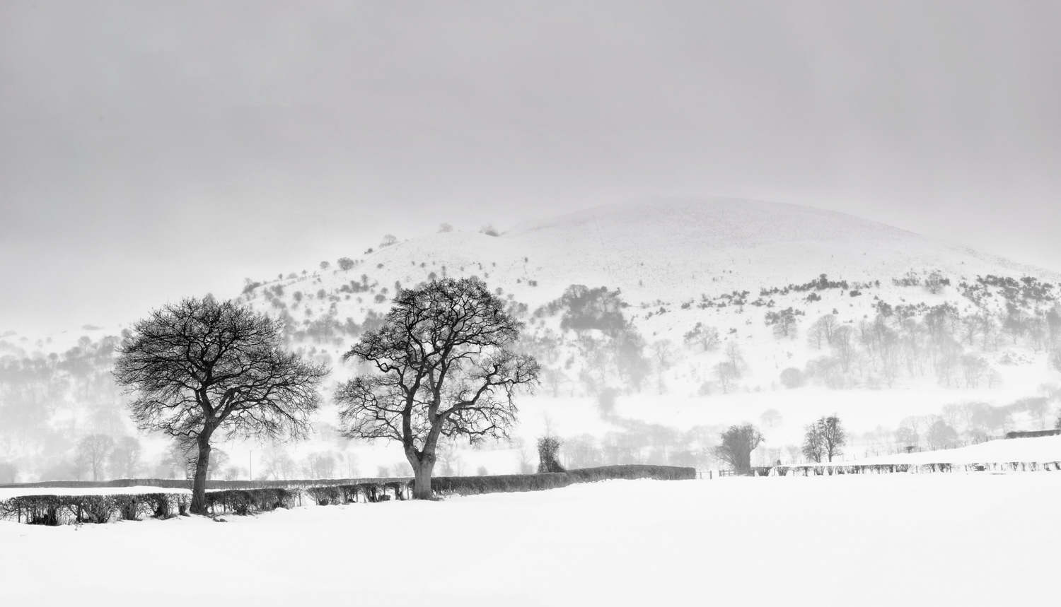 Wales Landscape in the snow.