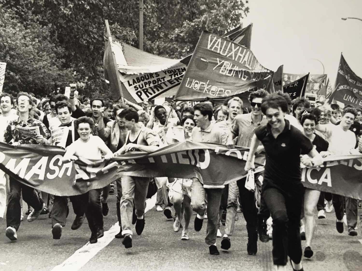 Me centre right - on Anti-Apartheid Rally at 16yrs