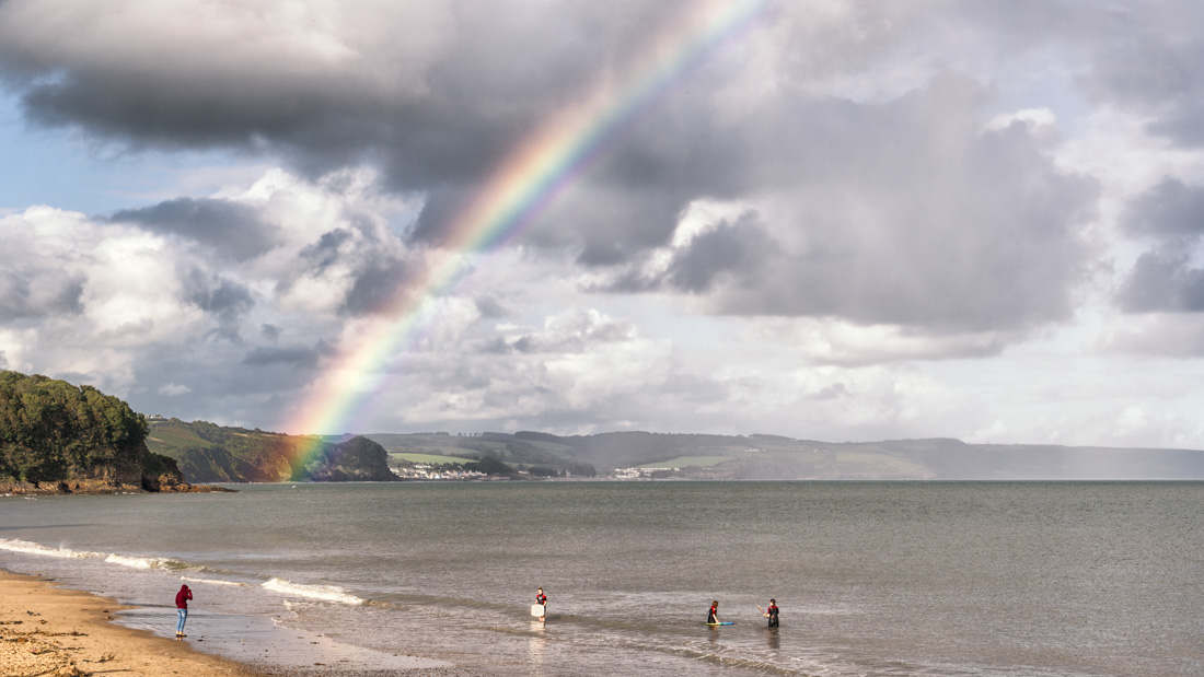 highly commended - joyce james - rainbow over saundersfoot beach