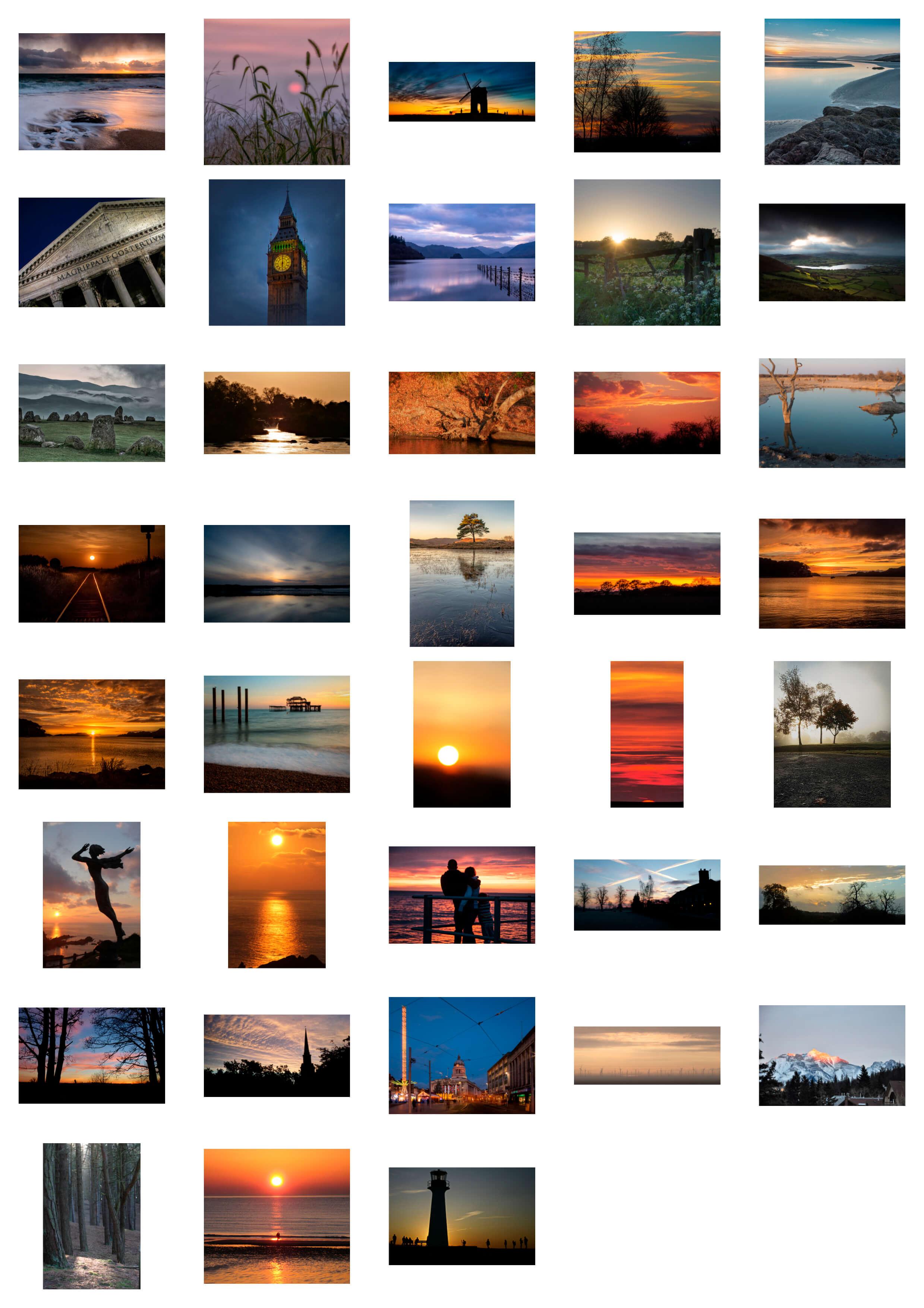 Sunrise - Sunset Entries