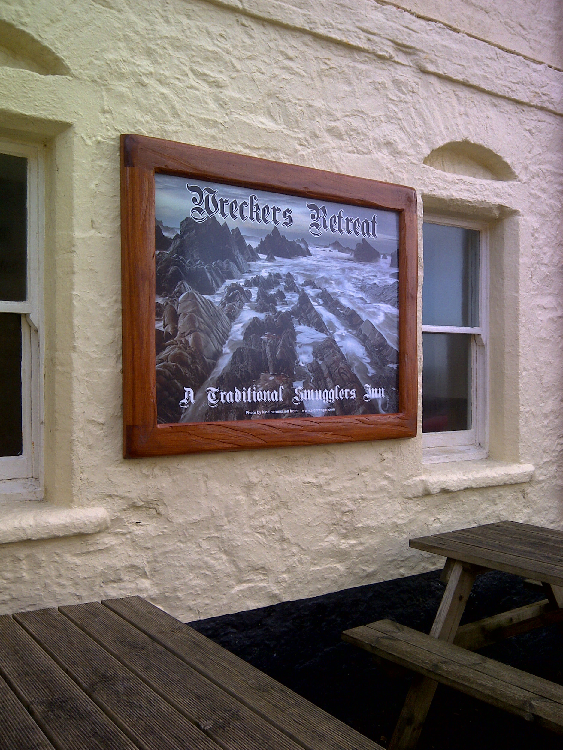 Pub Sign with my image taken in 2011