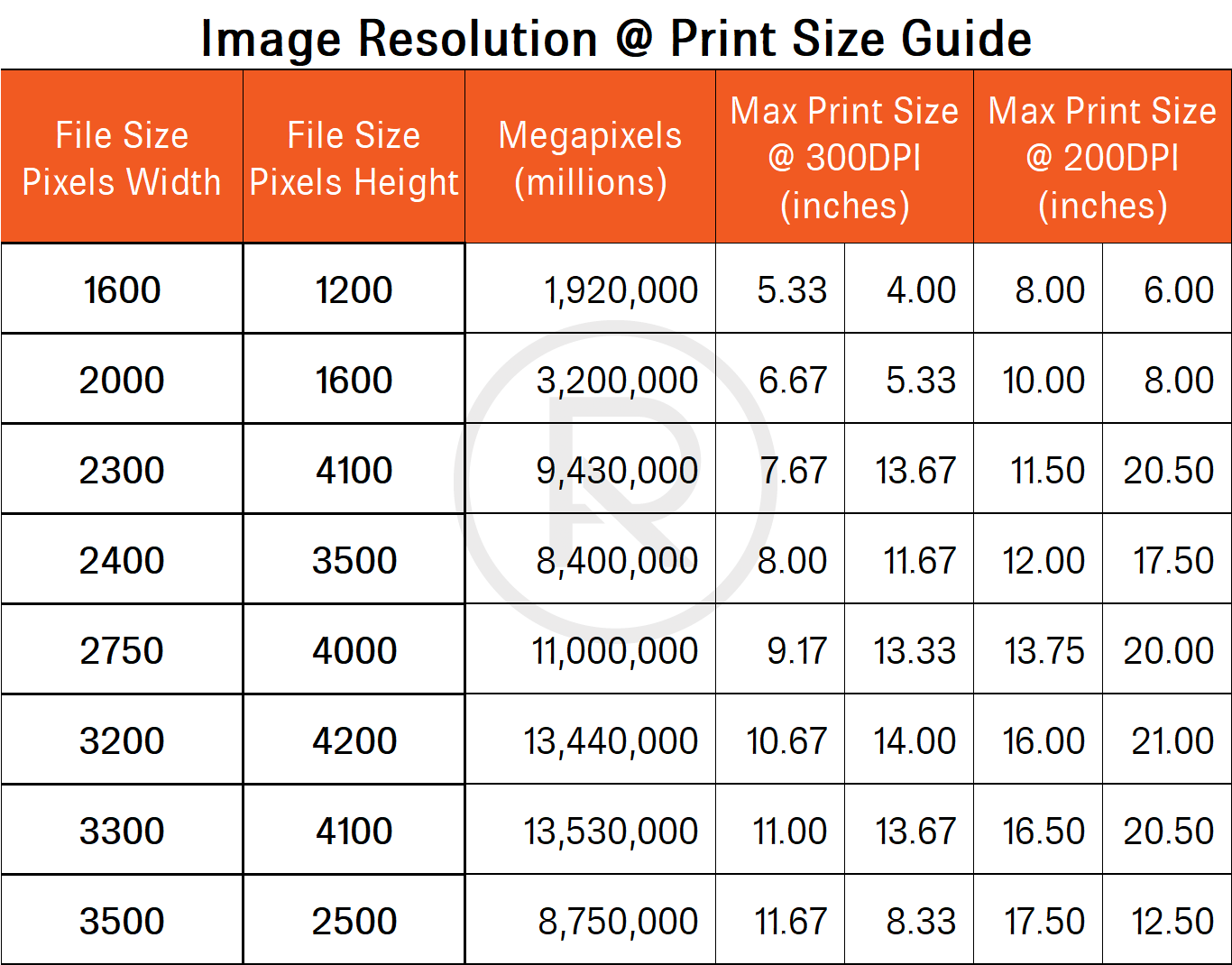 Print resolution and PPI