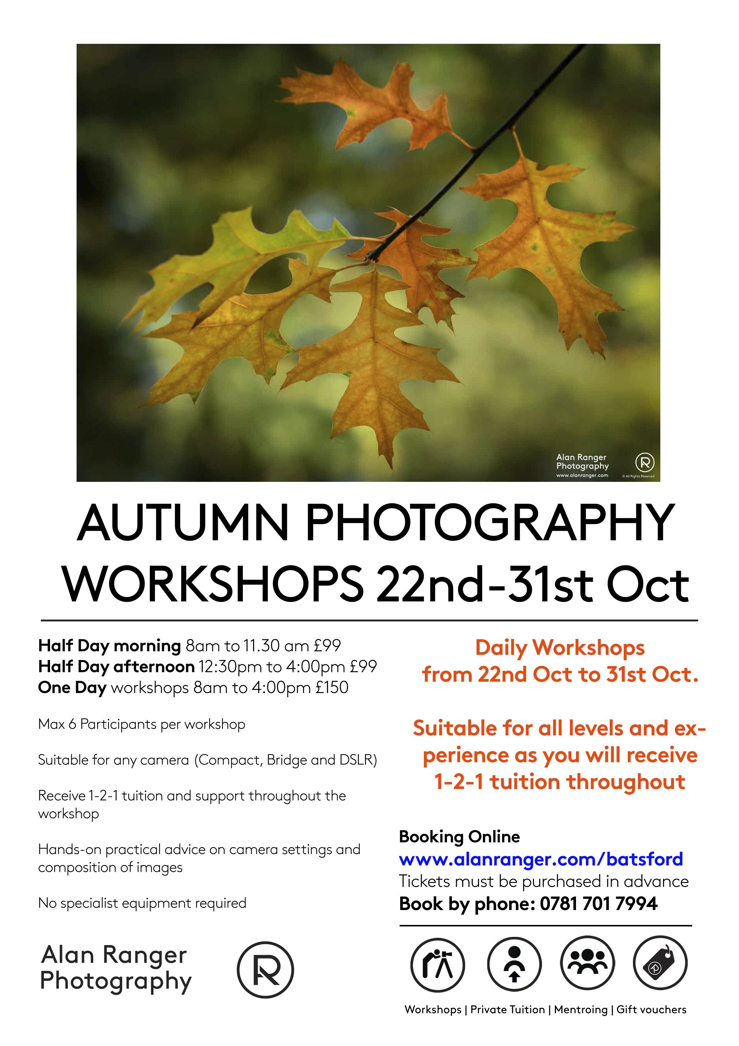 Batsford Photo Workshops Listing
