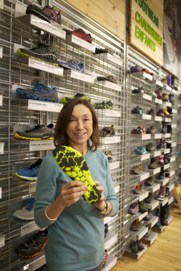 Manager, Colleen Mooney was showing off some of the colourful footwear