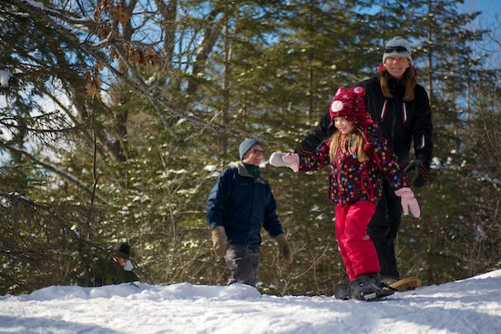 The ability to hop on in to snowshoeing made it accessible (and fun) for all ages