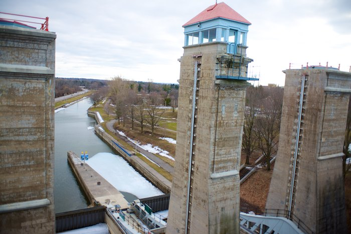 You would be able to view the museum and have access to the waterway from the nearby Lock 21-Peterborough Lift Lock historical site