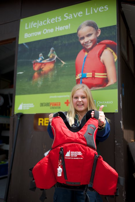 Kacey, from Emily Provincial Park, helping to make sure you are safe on the water