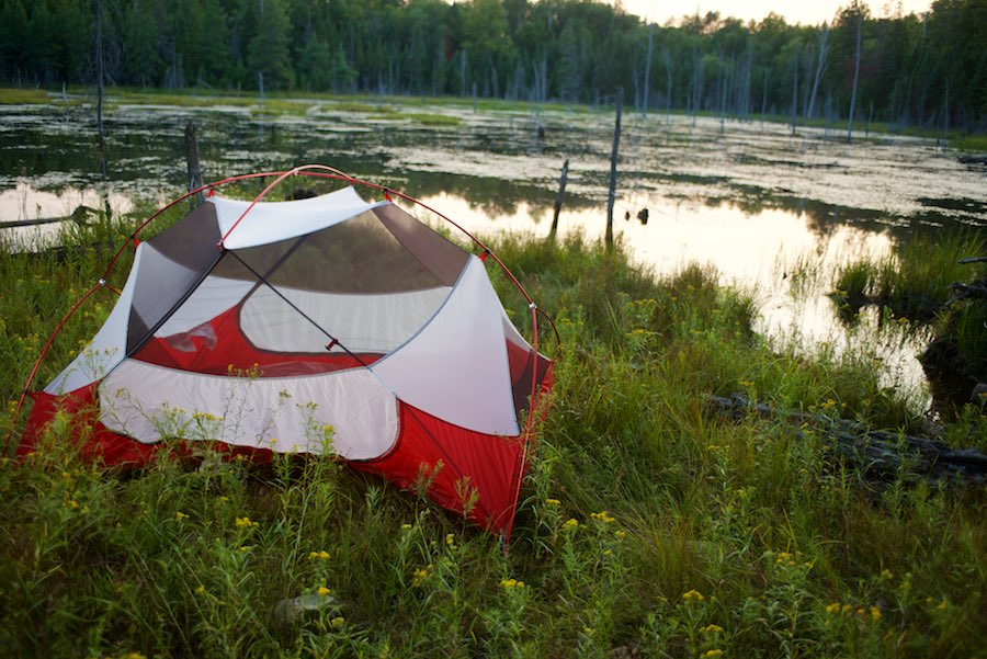 Clear night? Leave the rainfly off for a great view of the stars while keeping mosquitoes at bay