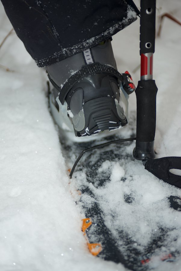 As an extra feature the TPU molded heel has an extra ridge forsnowshoe strap compatibility.