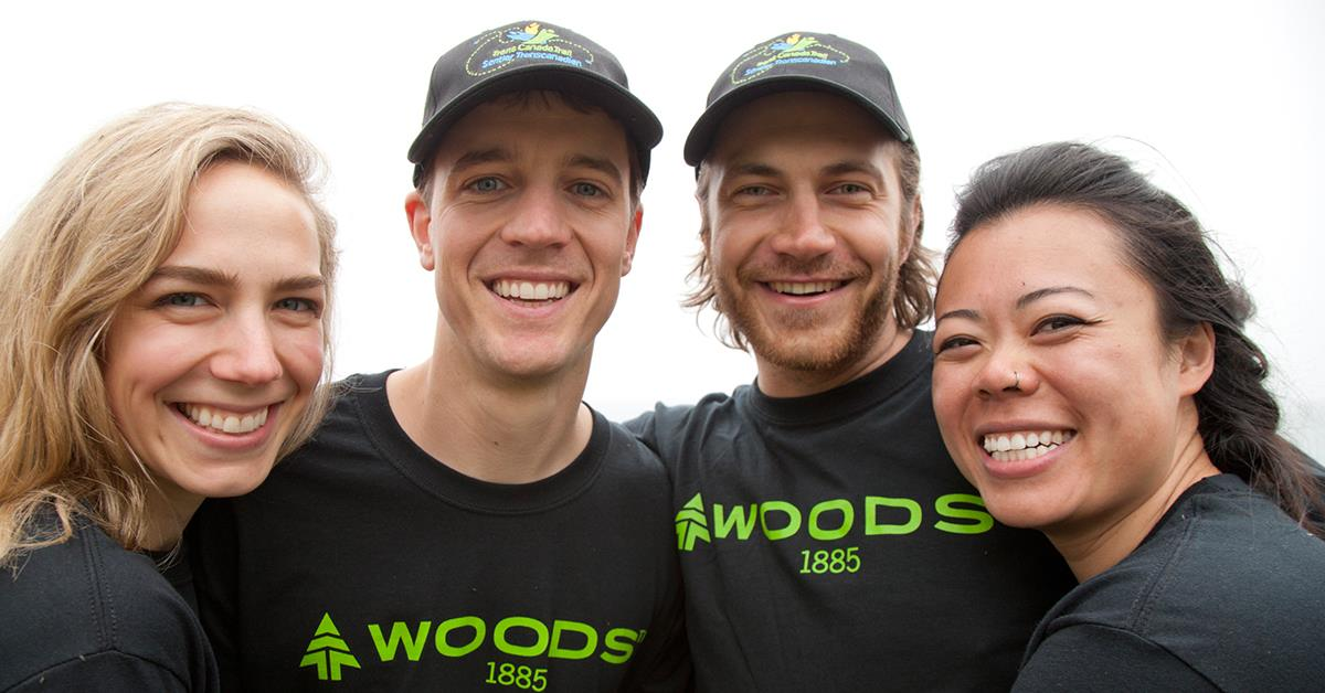 Team Adam & Melba from Calgary, AB. and Team Cedric and Magee from Whistler, BC