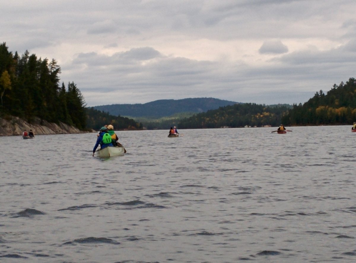 Dave Johnstone - Group of 22 including ages from 4 - 63 and three dogs all in 8 canoes into the Chiniguchi Waterway, Ontario
